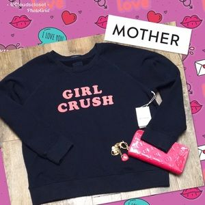 """MOTHER NWT """" GIRL CRUSH"""" Hot Pink / Navy Blue MED"""
